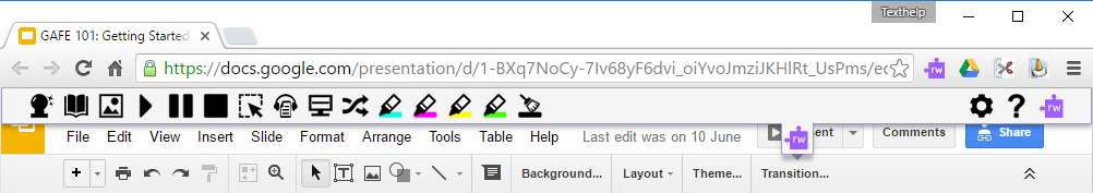 Disabled Toolbar